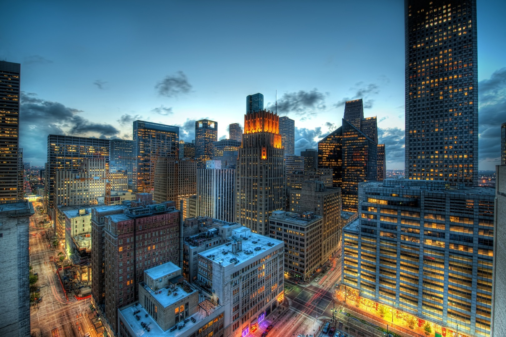 Houston at Dusk, Trey Ratcliff, 2009